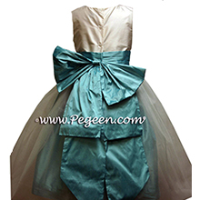 tiffany blue tulle flower girl dress