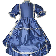 Blueberry Victorian Style Flower Girl Dress used for the Nutcracker Party Scene