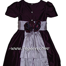1000 nights - deep amethyst and lilac flower girl dresses