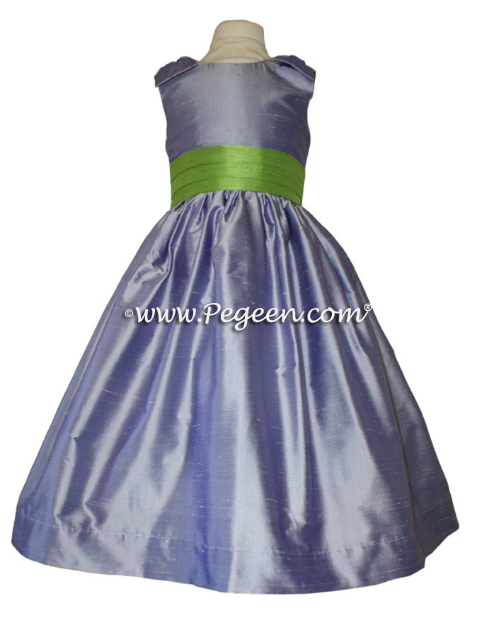 Apple Green and wisteria flower girl dresses