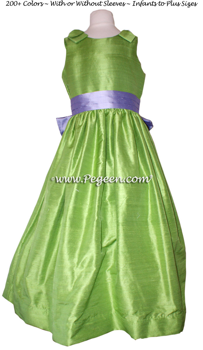 Apple Green and wisteria flower girl dresses Style 398 for Jr Bridesmaid