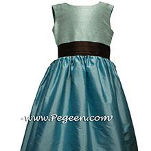 TIFFANY BLUE, AQUA AND SEMI-SWEET Flower Girl Dresses OR JUNIOR BRIDESMAIDS DRESSES