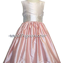 PINK AND LIGHT PINK FLOWER GIRL DRESSES