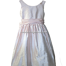 Baby Pink and Petal Pink FLOWER GIRL DRESSES Pegeen style 388 for Jr Bridesmaids