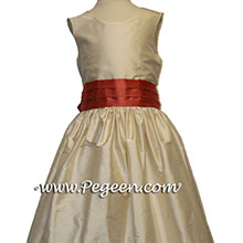 BISQUE AND AUTUMN flower girl dresses