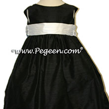ivory and black flower girl dresses