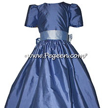 Flower Girl Dresses in Blueberry and Wisteria by PEGEEN