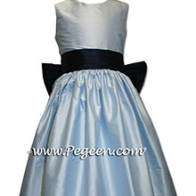 light blue and black flower girl dresses flower girl dresses