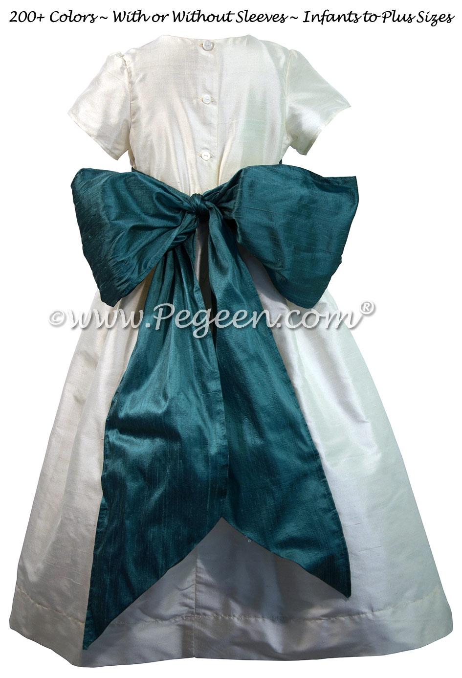 Juniper Custom Silk Flower Girl Dresses