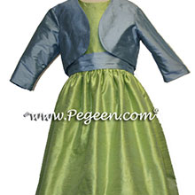 sprite and french blue bolero jacket for flower girl dresses