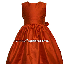 Carrot Orange flower girl dresses