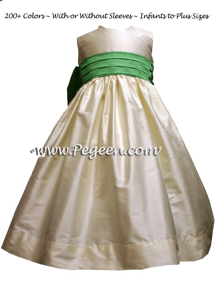 Clover Green flower girl dresses