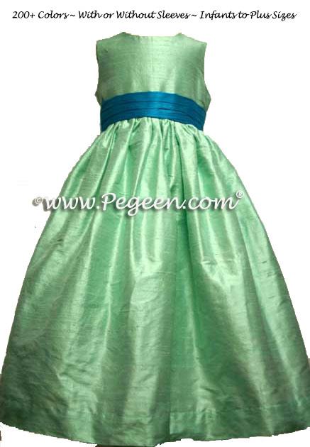 Tiffany blue flower girl dresses