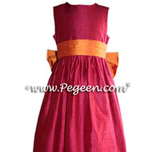 CRANBERRY CUSTOM FLOWER GIRL DRESSES