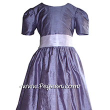 periwinkle and grape flower girl dresses