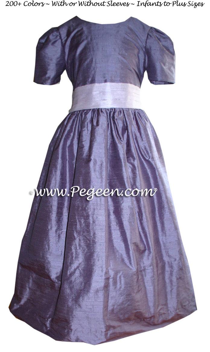 PERIWINKLE CUSTOM FLOWER GIRL DRESSES