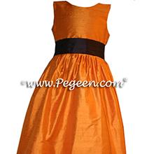 tangerine flower girl dresses