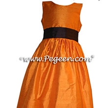 CUSTOM PUMPKIN FLOWER GIRL DRESSES