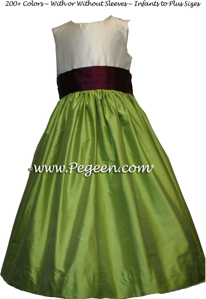 Green Flower Girl Dress