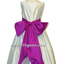 fuschia (berry) flower girl dresses