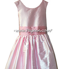 Hibiscus Pink and Bubblegum Pink Flower Girl Dresses  style 388 for Jr Bridesmaids
