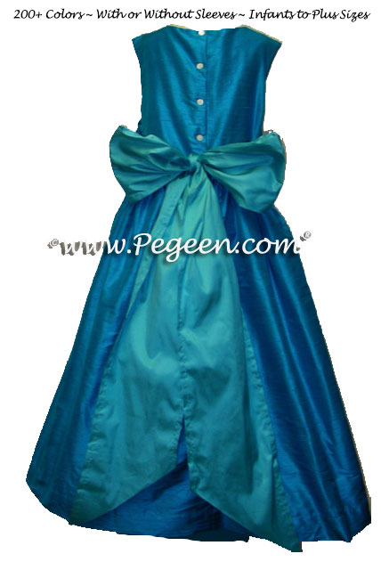 Jewel and Tiffany Silk Flower Girl Dresses Syle 398 | Pegeen