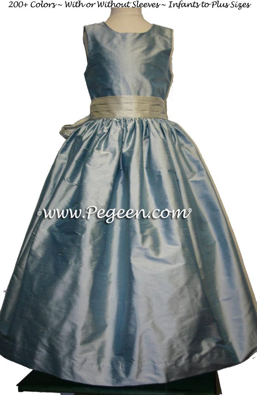Jim Hjelm Fawn & Cloud Dress Matching Flower Girl Dresses Style 398