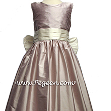 lavender and ivory silk flower girl dresses