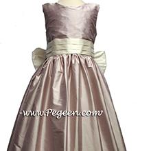 lavender and ivory silk flower girl dresses