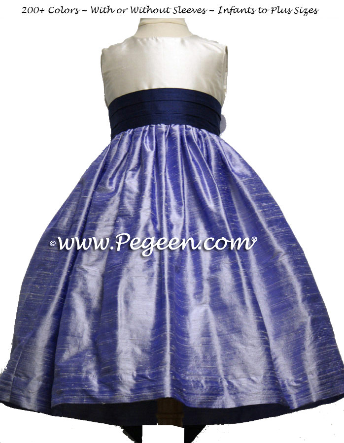 LILAC AND GRAPE SILK FLOWER GIRL DRESSES