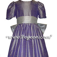 Lilac and grape flower girl dresses