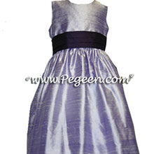 deep amethyst and lilac flower girl dresses