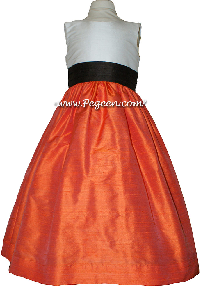 Mango Orange CUSTOM FLOWER GIRL DRESSES