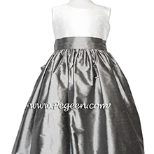 medium gray IVORY CUSTOM Flower Girl Dresses
