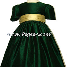 DARK GREEN PASTURE FLOWER GIRL DRESSES