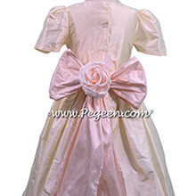 Peony Pink Flower Girl Dresses - style 398 with back flower