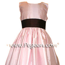peony pink and burgundy flower girl dresses