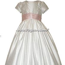 Peony Pink Flower Girl Dresses - Style 398