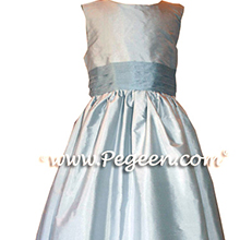 light powder blue and french blue flower girl dresses
