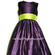 WILDBERRY AND APPLE GREEN FLOWER GIRL DRESS Style 398 by Pegeen