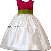 yellow red and purple flower girl dresses