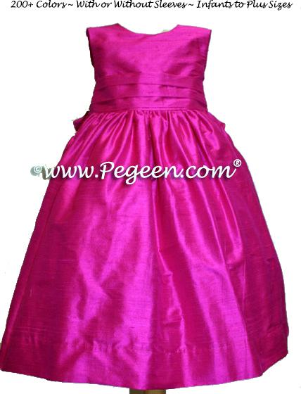 BOING (RASPBERRY) CUSTOM FLOWER GIRL DRESSES