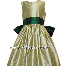 emerald & sage green flower girl dresses