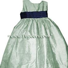 CUSTOM SPRING GREEN FLOWER GIRL DRESSES