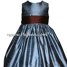 BLUE AND chocolate brown DRESSES