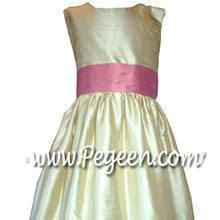 rpse flower girl dresses