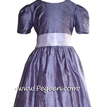 periwinkle flower girl dresses