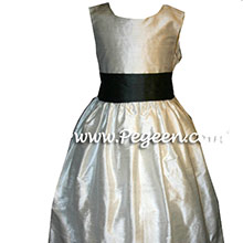 pewter flower girl dresses