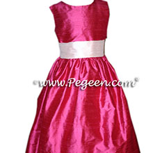poppy red flower girl dresses