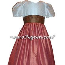 salmon and ginger junior bridesmaids dresses